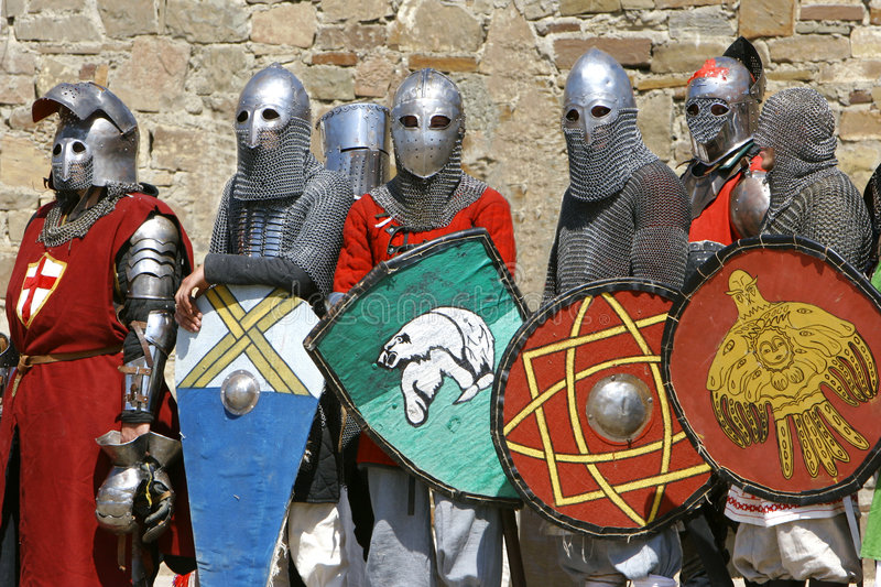 Download Several knights stock image. Image of feudal, ages, fighter - 3908785