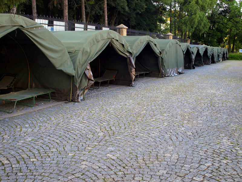 Download Several Large Military Tents On The Paved Area Stock Image - Image of military & Several Large Military Tents On The Paved Area Stock Image - Image ...