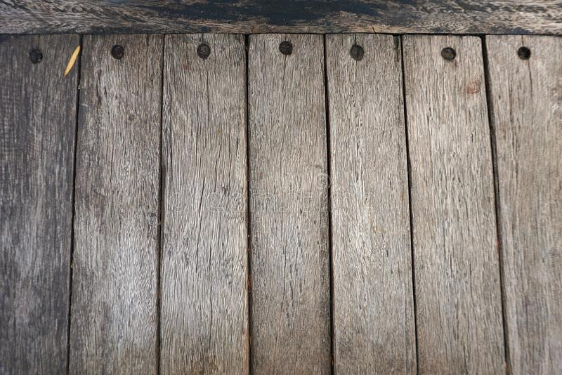 The several old wooden plates that are pinned with nails. The several old wooden plates that are pinned with nails is beautiful royalty free stock photos