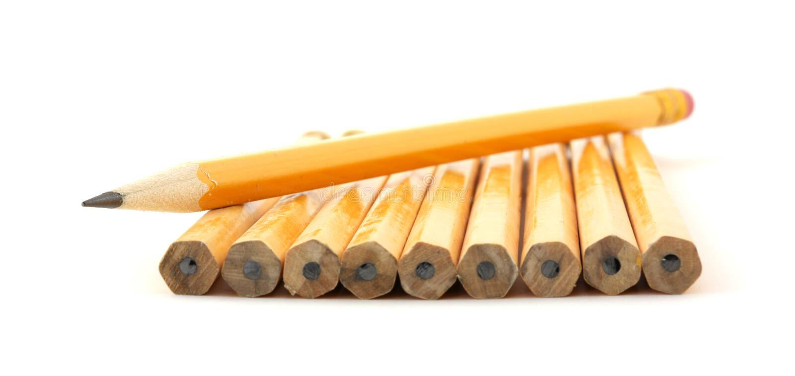 Download Several pencils stock photo. Image of pencil, white, pointed - 8844966