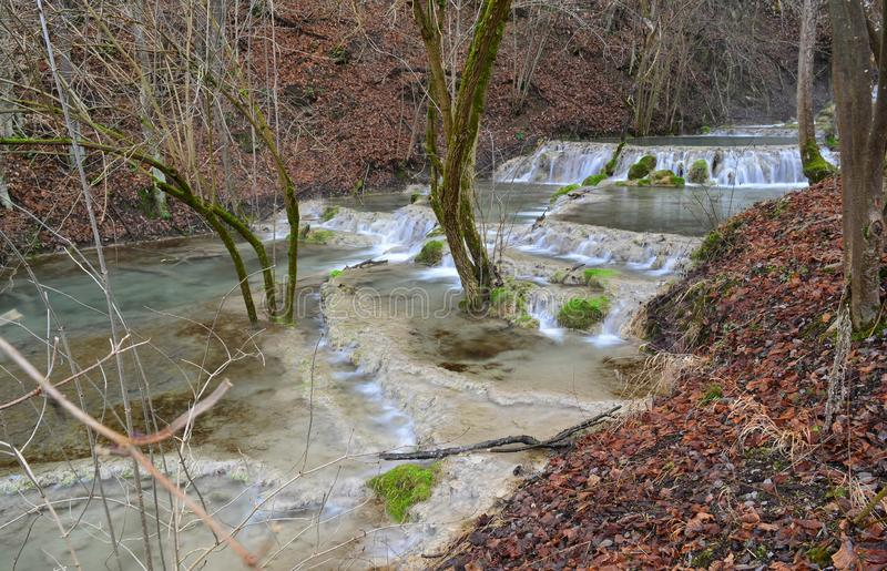 Bigar ponds in the form of cascade, Bigar creek, Kalna, Serbia royalty free stock images