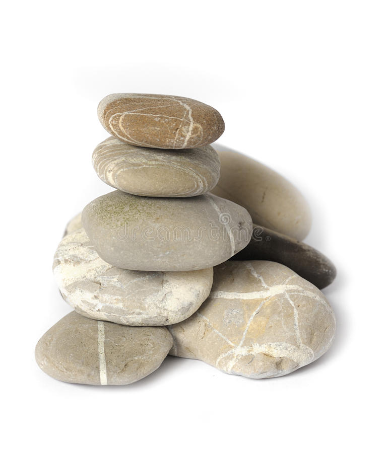 Several stones isolated stock photos