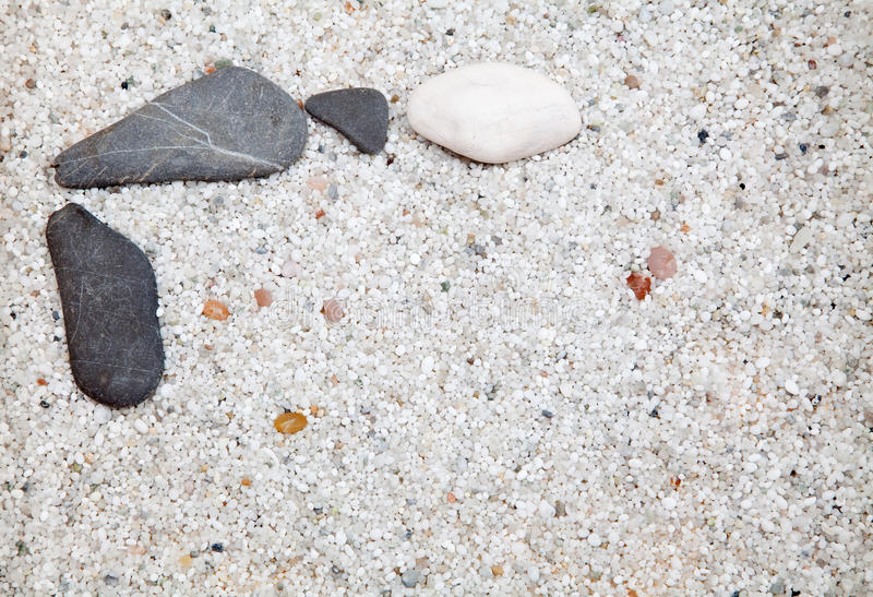 Download Several stones on sand. stock photo. Image of simplicity - 23771798