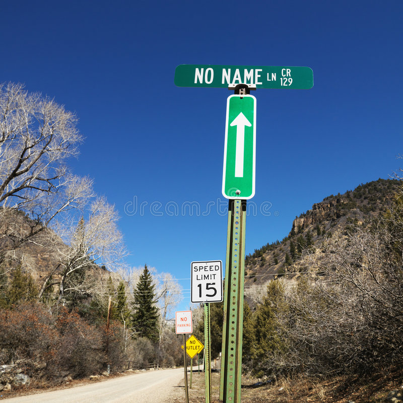 Several street signs. Several street signs along side of road in Utah, USA royalty free stock photography