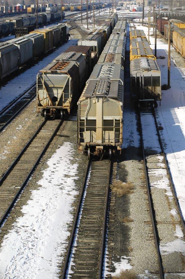 Several Trains Royalty Free Stock Photos