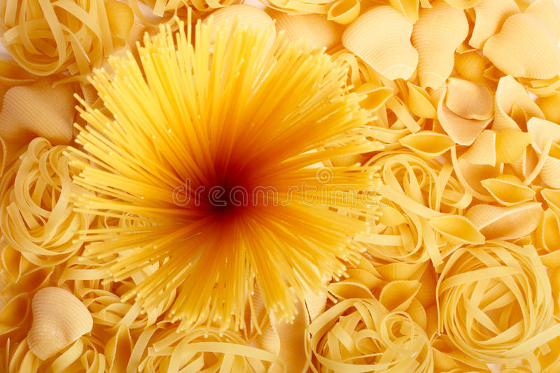 Several Types Of Spaghetti And Pasta Royalty Free Stock Photos