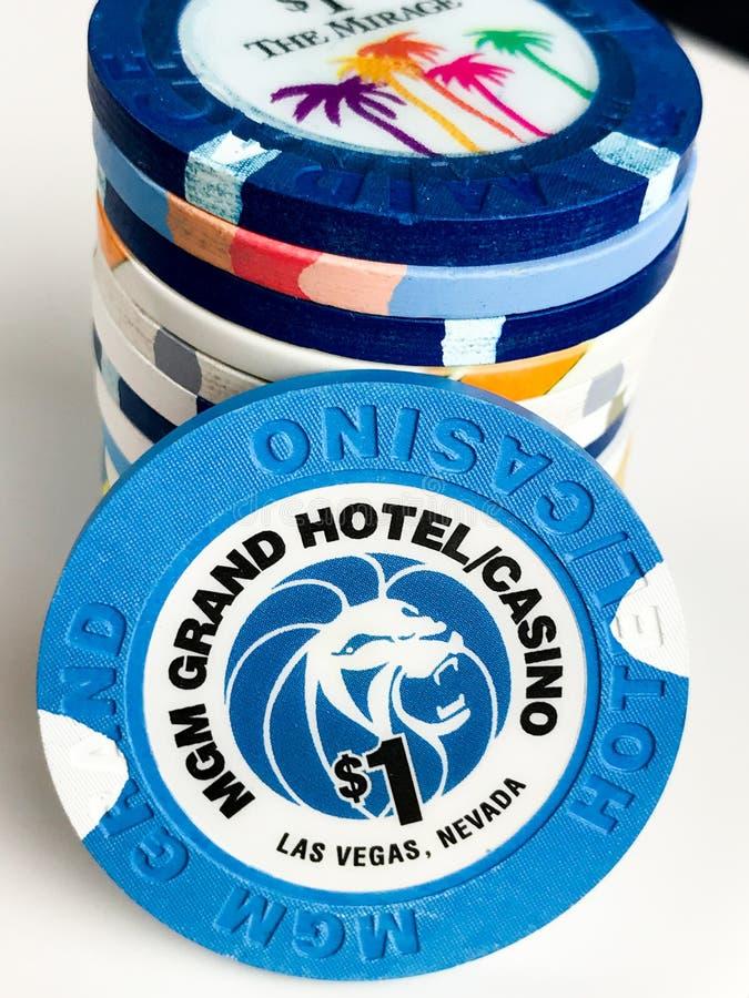 Vintage Las Vegas Poker Chips royalty free stock image
