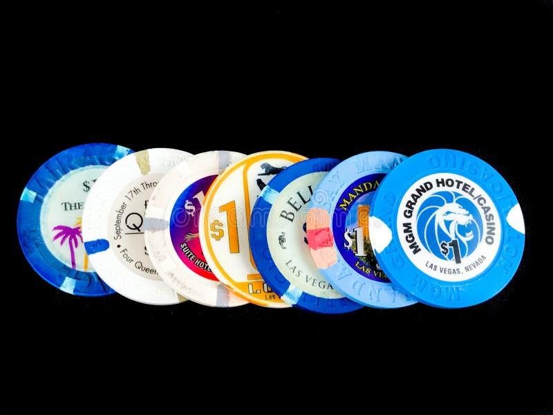 Vintage Las Vegas Poker Chips stock photos