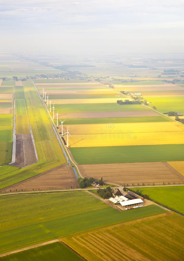 Download Several Windmills And Farm At Dutch Landscape Stock Photo - Image of development, energy: 27697962