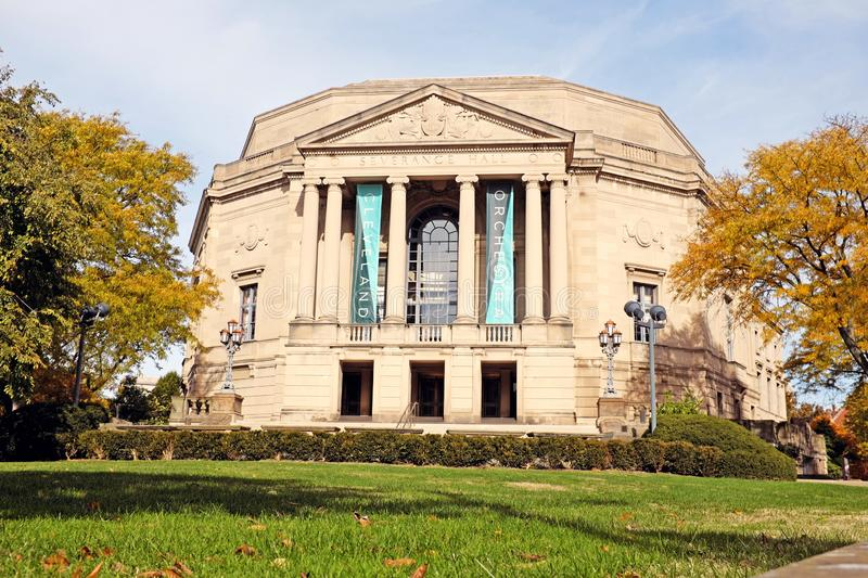 Severance Hall, home of the Cleveland Orchestra, in Cleveland, Ohio, USA. Severance Hall, home of the Cleveland Orchestra, in the University Circle District of royalty free stock images