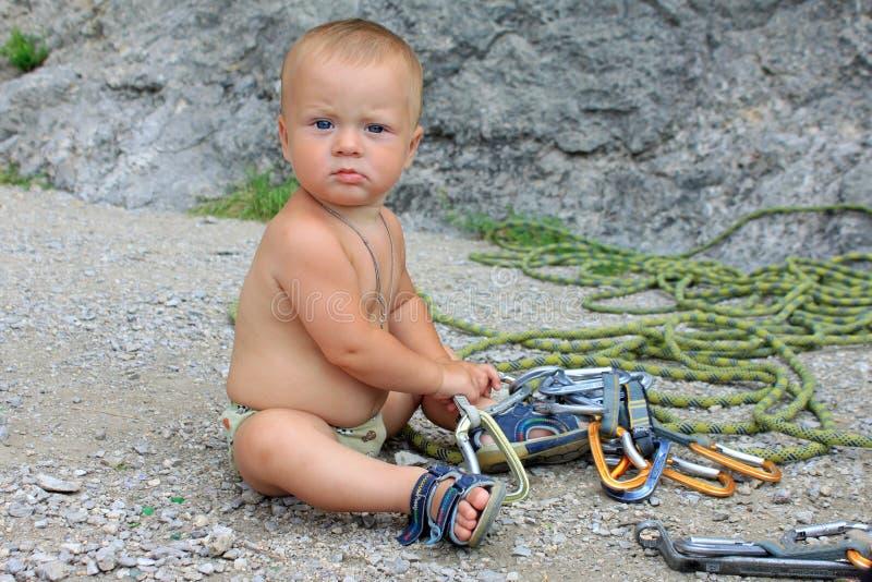 Severe climber stock photo
