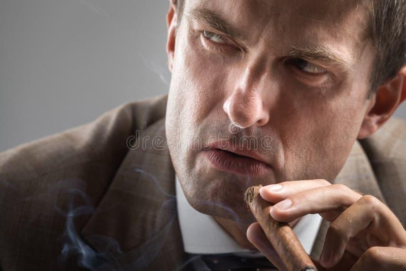 Download Severe Gaze Of Elegant Smoker Stock Photo - Image: 34822200