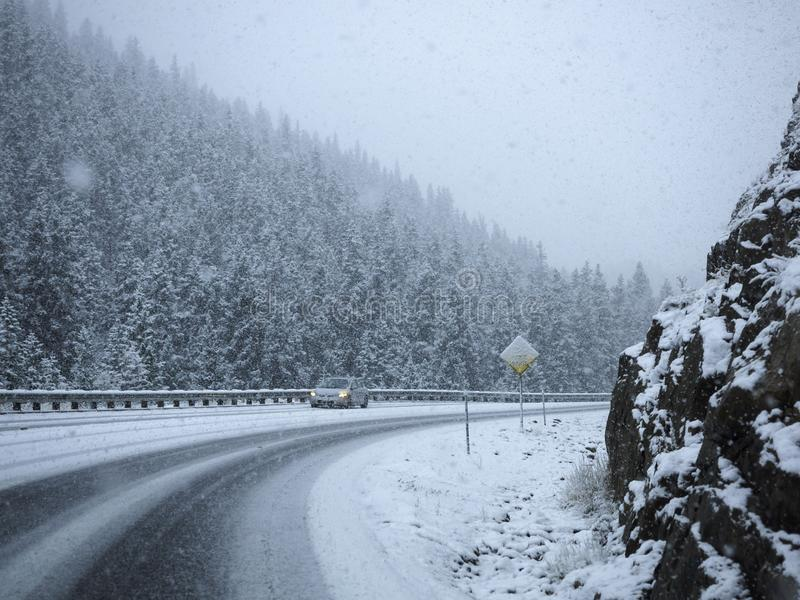 Severe Road conditions stock image