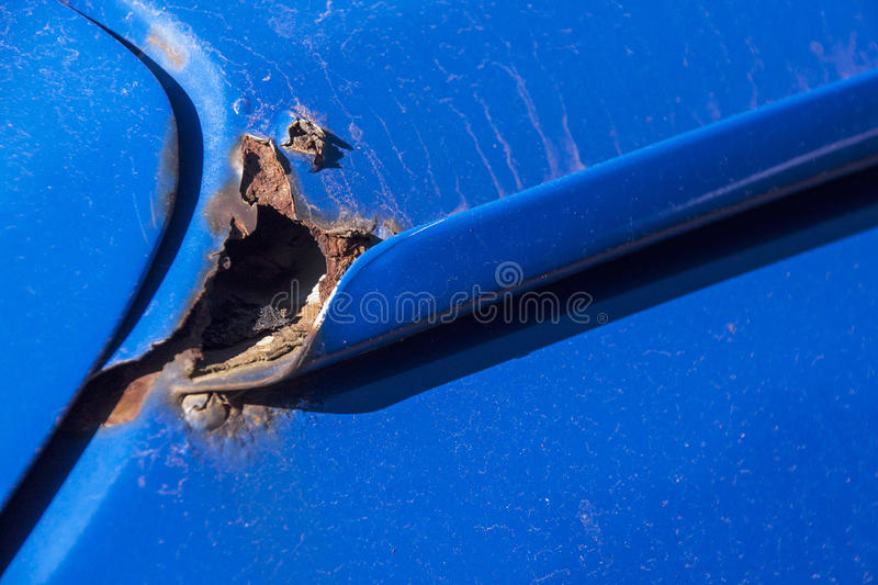 Vehicle Rust Truck Tailgate And Box Stock Image Image