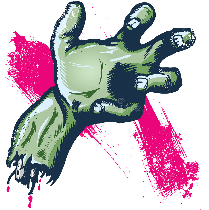 Severed hand halloween illustration stock photo