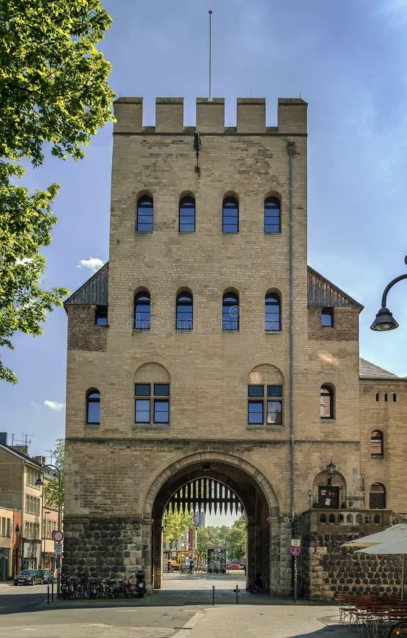 Severinstor (строб Severin), Кёльн города, Германия стоковые изображения