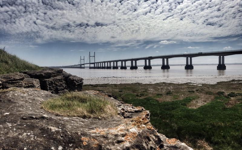 severn的桥梁 图库摄影