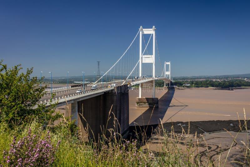 Severn Bridge Großbritannien stockfotografie