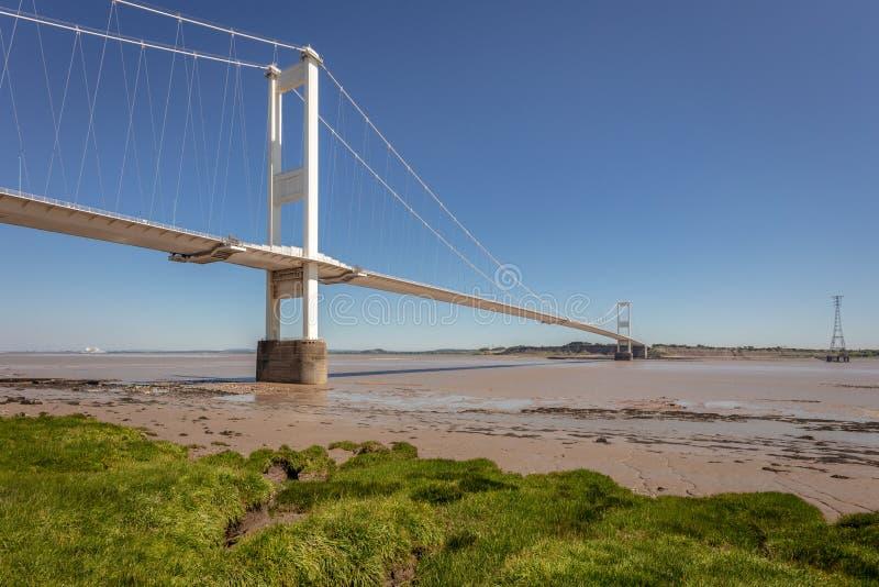Severn Bridge Großbritannien lizenzfreies stockbild