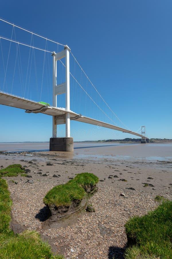 Severn Bridge Großbritannien lizenzfreies stockfoto