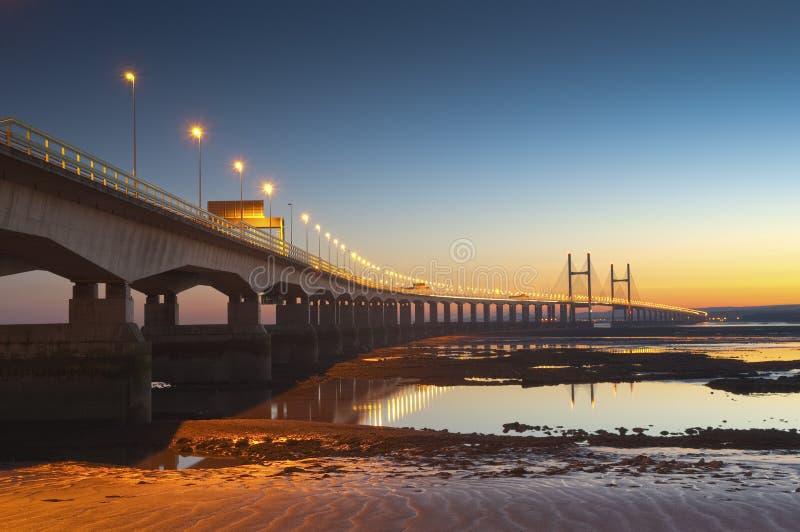 Severn Bridge, Großbritannien stockfotografie