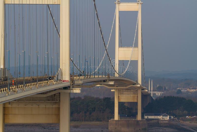 Severn Crossing Suspension Bridge original foto de archivo