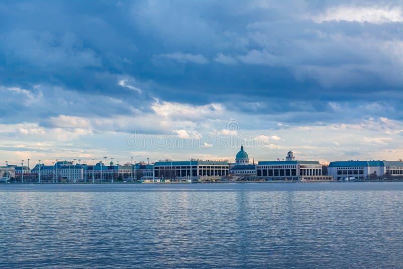 Severn River et l'Académie Navale des Etats-Unis à Annapolis, le Maryland images libres de droits