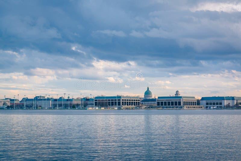 Severn River et l'Acad?mie Navale des Etats-Unis ? Annapolis, le Maryland photos stock