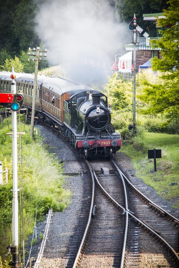 Severn Valley Railway, Worcestershire foto de stock