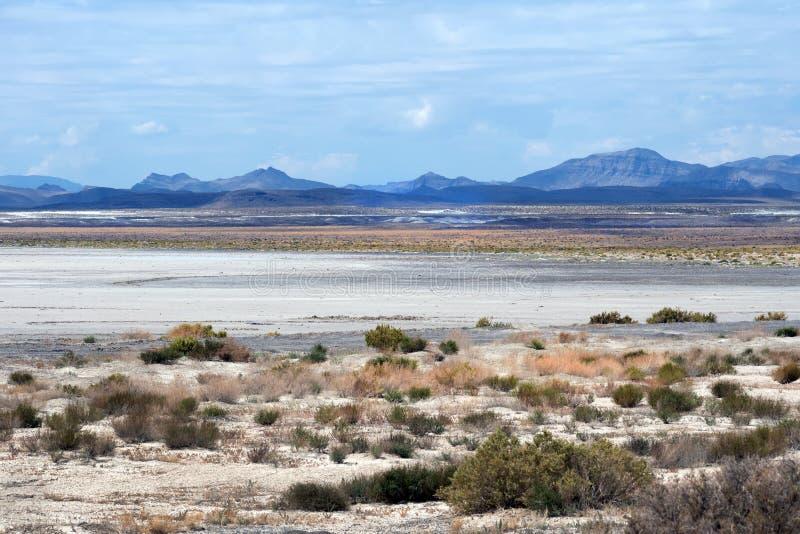 Sevier Lake and Cricket Mountains, Sevier Desert, Utah. USA stock image