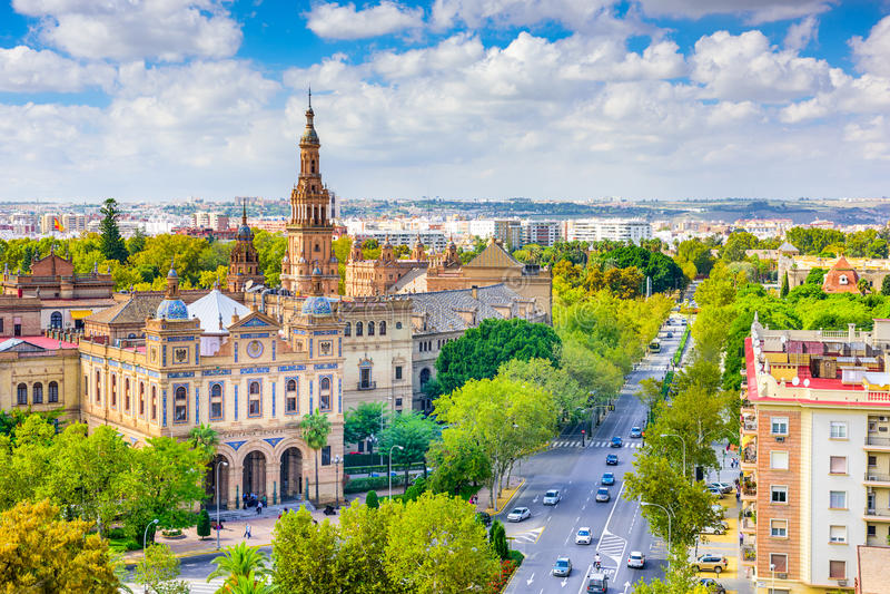 Sevilha, Spain foto de stock royalty free