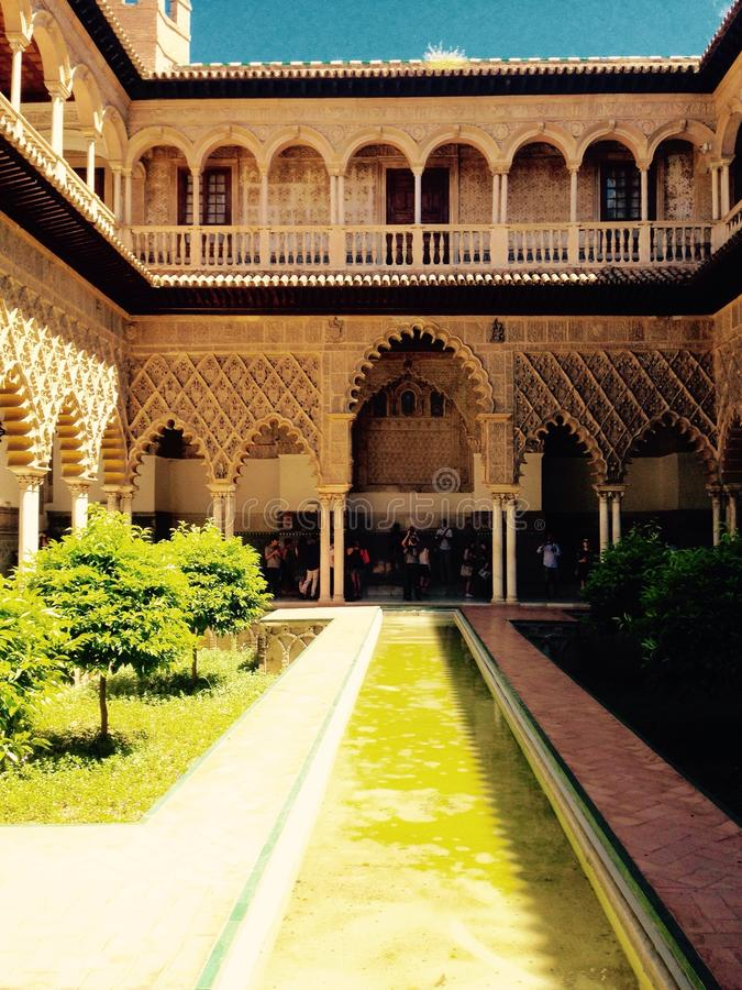 Sevilla Alhambra foto de stock royalty free