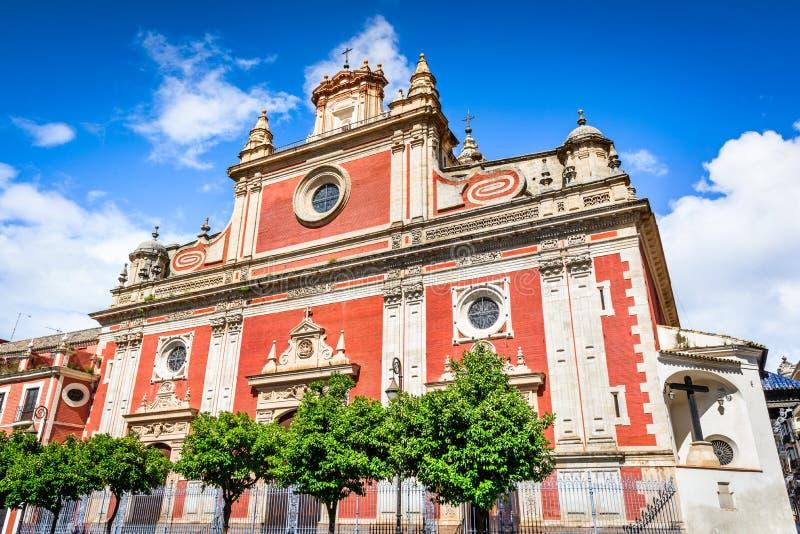 Sevilla, Andalusia, Spanje - Gr Salvador Church royalty-vrije stock foto