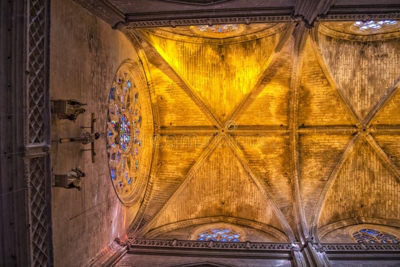 Sevilla Cathedral-Innenraum, Andalusien, Spanien stockfotografie