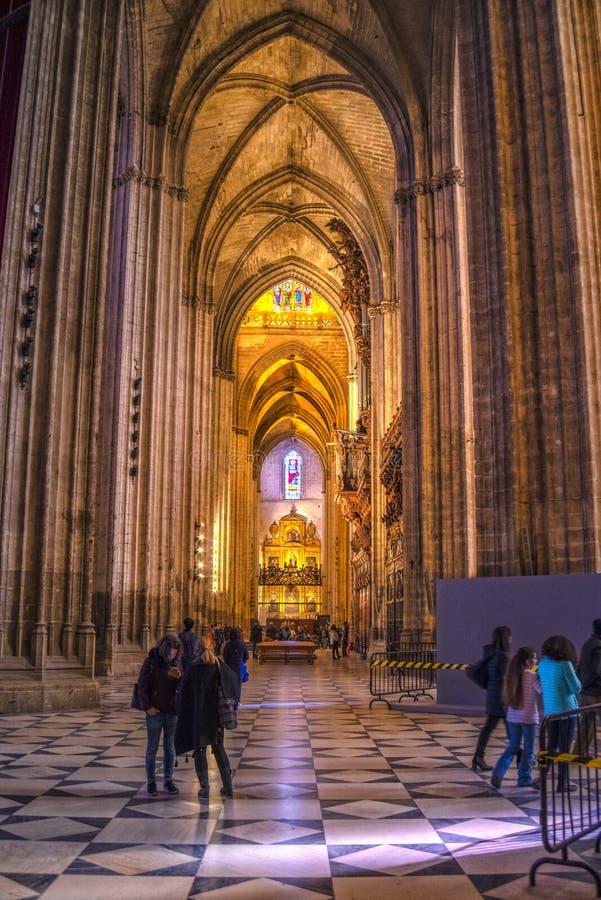 Sevilla Cathedral-Innenraum, Andalusien, Spanien lizenzfreies stockbild