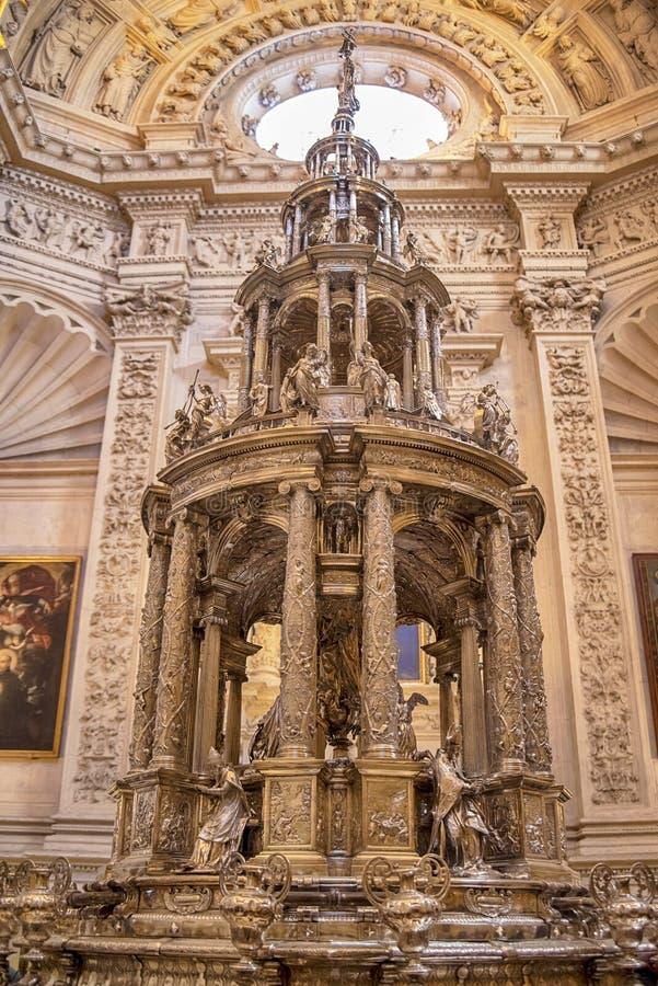 Sevilla Cathedral-Innenraum, Andalusien, Spanien lizenzfreie stockbilder
