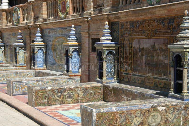 Sevilla - d'Espana van het Plein stock foto's