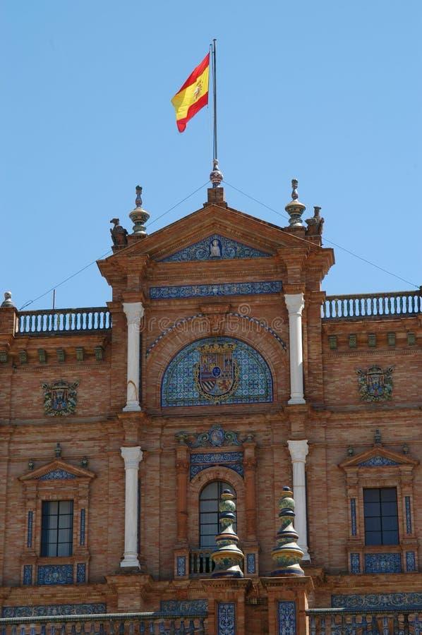 Sevilla - d'Espana van het Plein stock foto