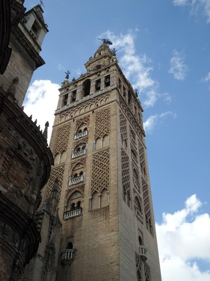 Sevilla, de Giralda-Toren stock fotografie