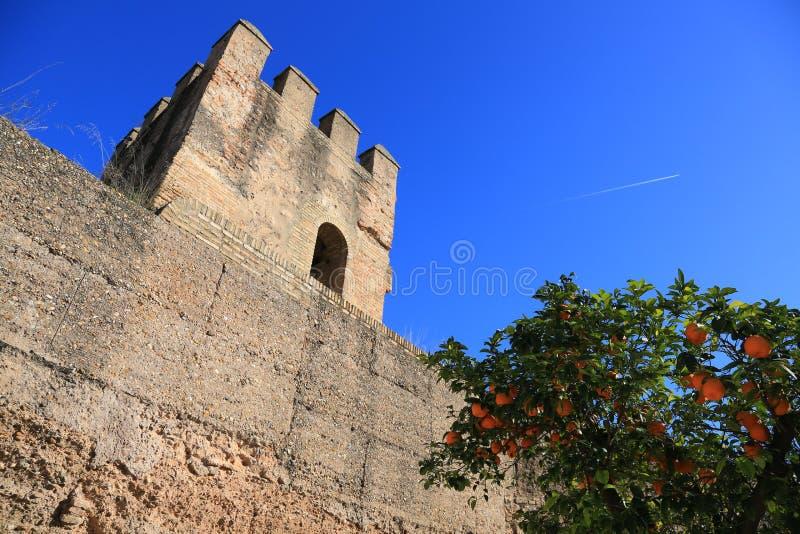 Sevilla Defensywy ściana obraz royalty free