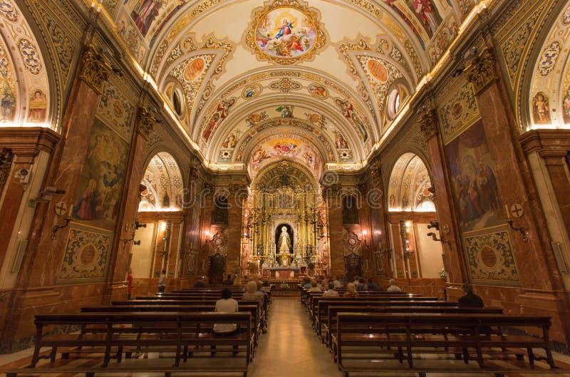 Sevilla - el cubo de la iglesia Basilica de la Macarena con los frescos de Rafael Rodrguez imagen de archivo
