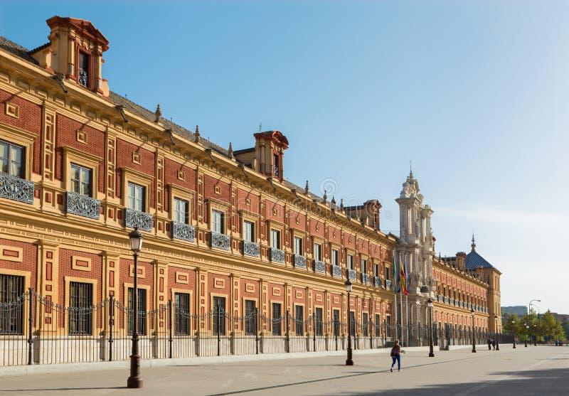 Sevilla - het Paleis van San Telmo stock foto