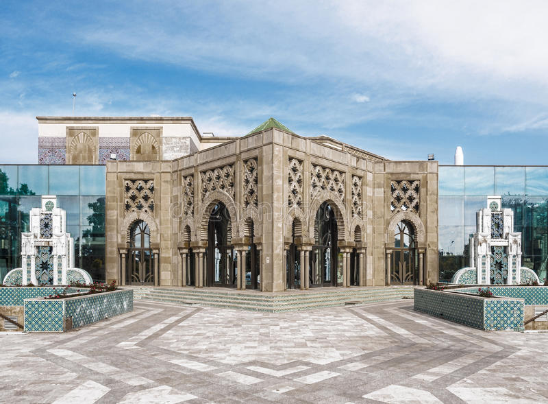 Sevilla Hiszpania, Luty, - 12, 2015: Wyspa Charterhouse Ogólnoludzka ekspozycja Seville pawilon maroka obrazy royalty free