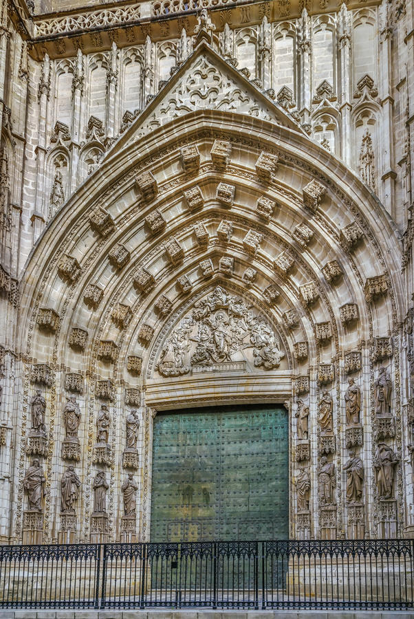 Sevilla-Kathedrale, Spanien stockbild