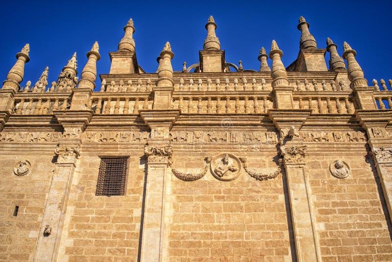 Sevilla-Kathedralenfassade, Andalusien, Spanien stockfoto