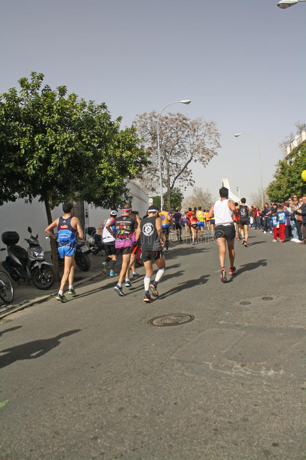 Sevilla Marathon 2016 photo stock