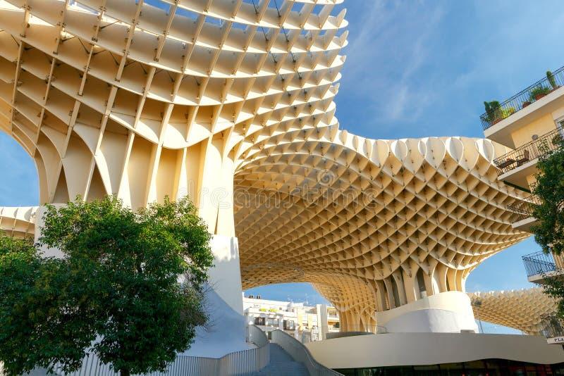Sevilla Metropol Sonnenschirm lizenzfreies stockfoto