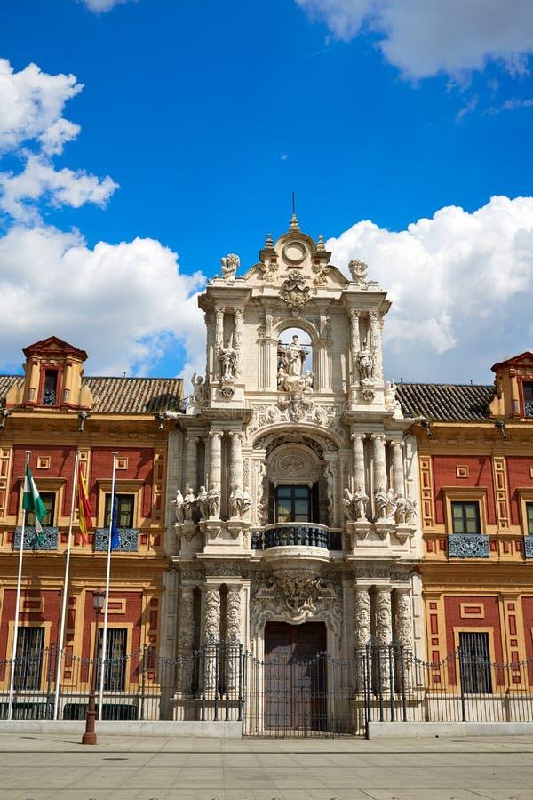 Sevilla Palacio San Telmo in Andalusia Spanje royalty-vrije stock foto