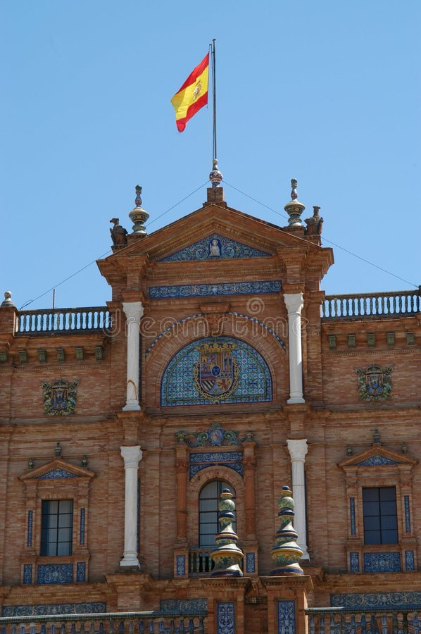 Download Sevilla - Plaza d'Espana stock photo. Image of trip, place - 22290