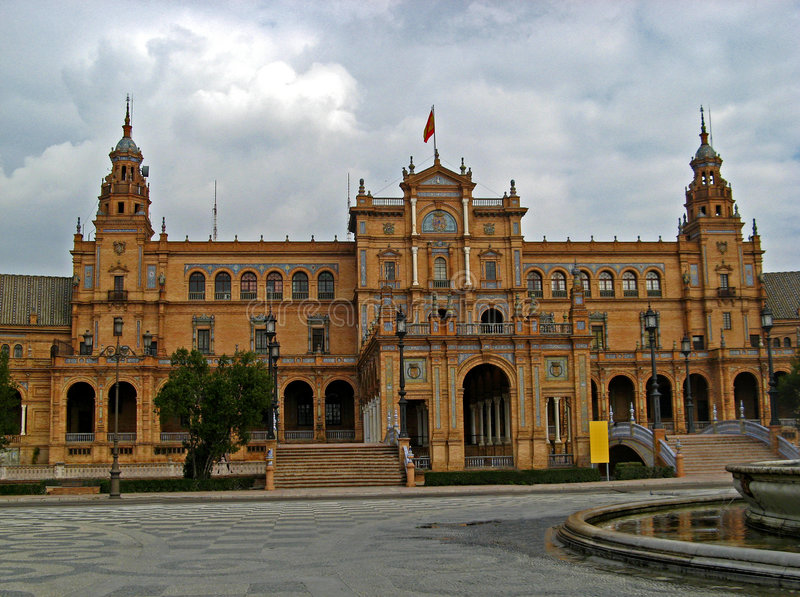 Sevilla, Plaza de Espana 08 stock images